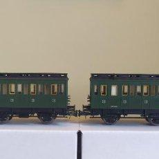 Trenes Escala: FLEISCHMANN H0 PAREJA DE COCHES CON GARITA DE 3ª CLASE, DE LA SNCB, REFERENCIAS 5794 K Y 5795 K.. Lote 274924068