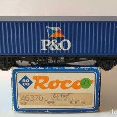 Comboios Escala: FLEISCHMANN VAGON PLATAFORMA CON CONTENEDOR ESCALA H0. Lote 278804908