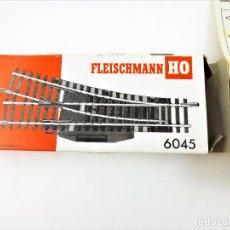 Trenes Escala: FLEISCHMANN 6045 PAREJA DE DESVÍOS ELÉCTRICOS IZQUIERDA / DERECHA. HO DC. Lote 278878993