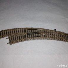 Trenes Escala: FLEISCHMANN H0 6142 L DESVÍO CURVO A LA IZQUIERDA PROFI BUEN ESTADO. Lote 286425623