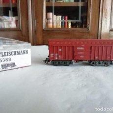 Trenes Escala: FLEISCHMANN H0 5388 VAGÓN TECHO GIRATORIO DB ALEMÁN OVP. Lote 287641518