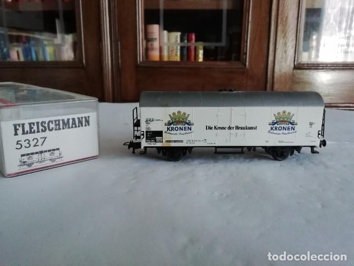 FLEISCHMANN H0 5327 VAGÓN CERRADO KRONEN DORTMUNDER DB OVP (Juguetes - Trenes Escala H0 - Fleischmann H0)