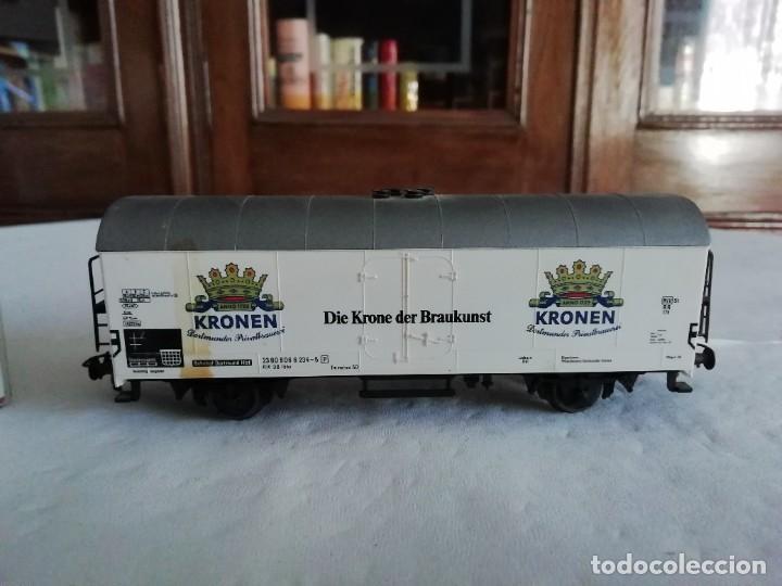 Trenes Escala: Fleischmann H0 5327 Vagón Cerrado Kronen Dortmunder DB OVP - Foto 2 - 287641568