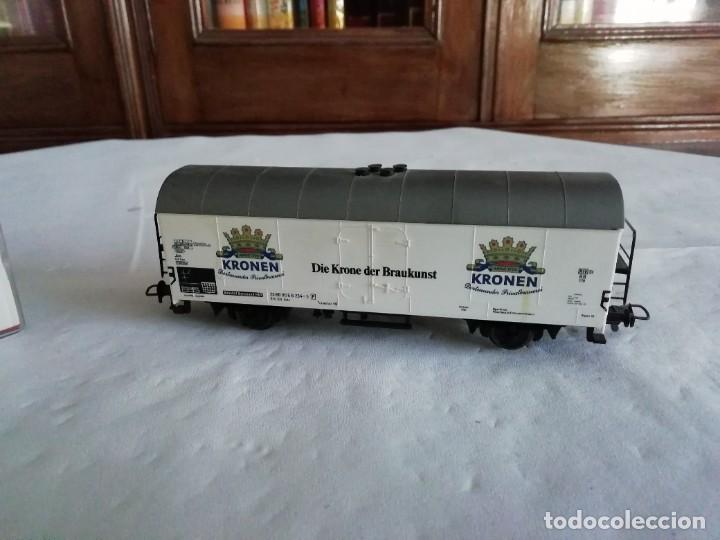 Trenes Escala: Fleischmann H0 5327 Vagón Cerrado Kronen Dortmunder DB OVP - Foto 4 - 287641568