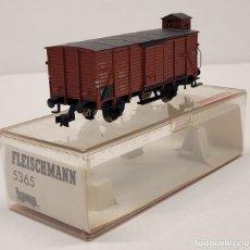 Trenes Escala: FLEISCHMANN H0 5365- VAGÓN CERRADO CON GARITA TIPO G10. Lote 288034723