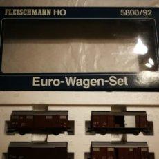 Trenes Escala: ESTUCHE EURO WAGEN FLEISCHMANN 5800/92. Lote 288069143