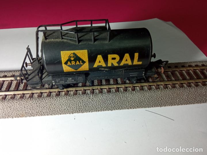 Trenes Escala: VAGÓN CISTERNA ARAL ESCALA HO DE FLEISCHMANN - Foto 2 - 288086343