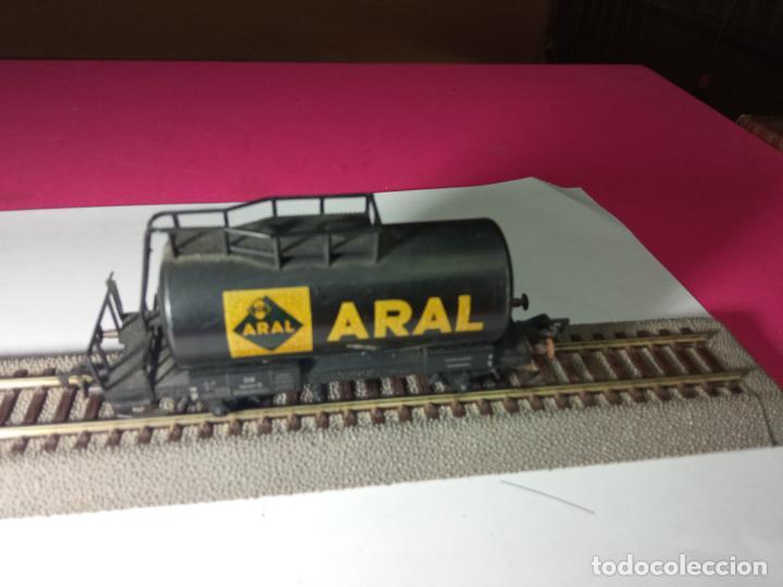 Trenes Escala: VAGÓN CISTERNA ARAL ESCALA HO DE FLEISCHMANN - Foto 3 - 288086343