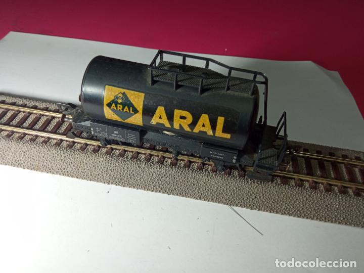 Trenes Escala: VAGÓN CISTERNA ARAL ESCALA HO DE FLEISCHMANN - Foto 5 - 288086343