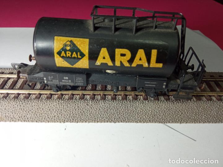Trenes Escala: VAGÓN CISTERNA ARAL ESCALA HO DE FLEISCHMANN - Foto 7 - 288086343