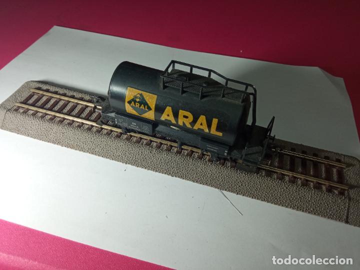 Trenes Escala: VAGÓN CISTERNA ARAL ESCALA HO DE FLEISCHMANN - Foto 8 - 288086343
