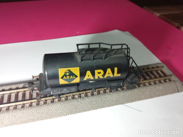 Trenes Escala: VAGÓN CISTERNA ARAL ESCALA HO DE FLEISCHMANN - Foto 9 - 288086343