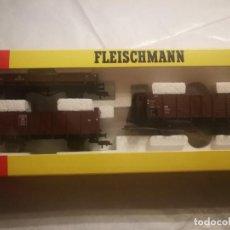Trenes Escala: ESTUCHE FLEISCHMANN 3 VAGONES CARGA 91 5214. Lote 288309888