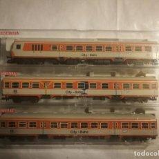 Trenes Escala: FLEISCHMANN 3 VAGONES CITY-BAHN. Lote 288314498