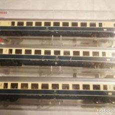 Trenes Escala: FLEISCHMANN 3 VAGONES DB 2 CLASE. Lote 288315513