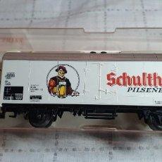 """Trenes Escala: FLEISHMANN VAGÓN CERVECERO """"SCHULTHEISS PILSENER"""" DE LA DB. REF. 5322. NUEV0 A ESTRENAR EN SU CAJA. Lote 288749143"""