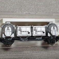 Trenes Escala: FLEISHMANN VAGÓN CONTENEDOR DE LA DB. REF. 5230. ÉPOCA III. NUEV0 A ESTRENAR EN SU CAJA. Lote 288749443