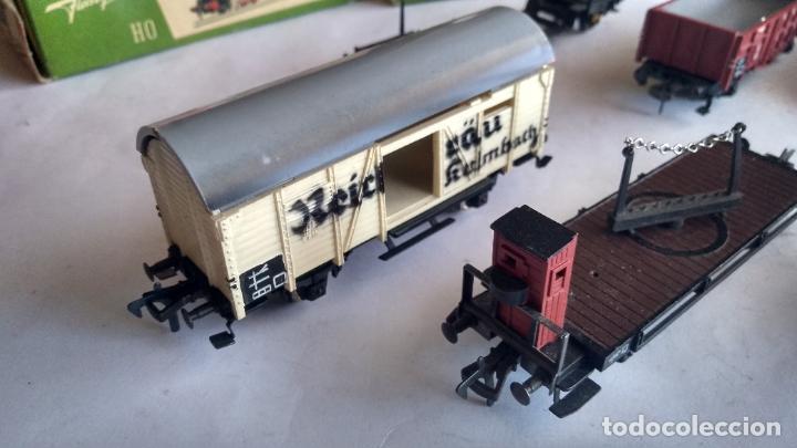 Trenes Escala: FLEISCHMANN H0, LOTE DE VAGONES DE CARGA VARIADA. Y 3 CAJAS. LO DE LAS FOTOS - Foto 4 - 289638788