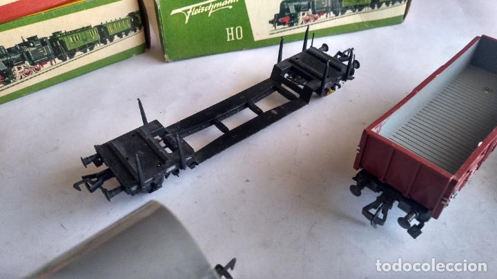 Trenes Escala: FLEISCHMANN H0, LOTE DE VAGONES DE CARGA VARIADA. Y 3 CAJAS. LO DE LAS FOTOS - Foto 5 - 289638788