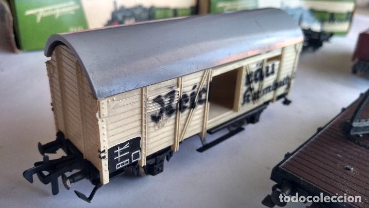 Trenes Escala: FLEISCHMANN H0, LOTE DE VAGONES DE CARGA VARIADA. Y 3 CAJAS. LO DE LAS FOTOS - Foto 12 - 289638788
