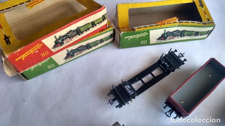 Trenes Escala: FLEISCHMANN H0, LOTE DE VAGONES DE CARGA VARIADA. Y 3 CAJAS. LO DE LAS FOTOS - Foto 19 - 289638788