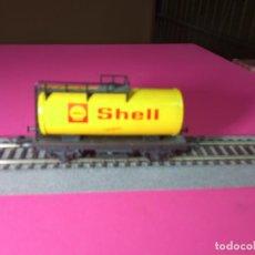 Trenes Escala: VAGÓN CISTERNA SHELL ESCALA HO DE FLEISCHMANN. Lote 290904993