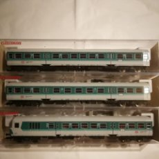 Trenes Escala: COMPOSICIÓN VAGONES FLEISCHMANN 5143 5144 5145. Lote 293239488