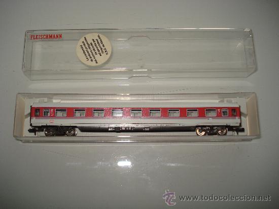 Trenes Escala: Coche viajeros 1ª Clase Intercity Eurocity de la DB Ref. 8181 de FLEISCHMANN en *N* . - Foto 4 - 24770325