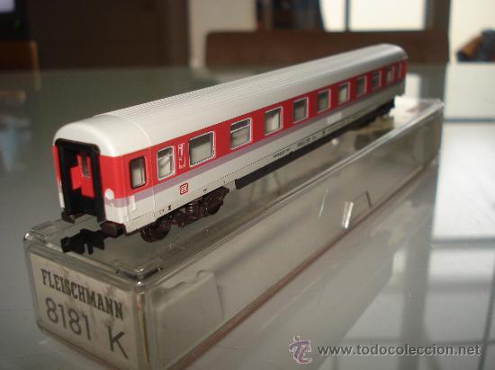 Trenes Escala: Coche viajeros 1ª Clase Intercity Eurocity de la DB Ref. 8181 de FLEISCHMANN en *N* . - Foto 3 - 24770325