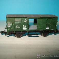 Trenes Escala: VAGON TALLER 2 PUERTAS CORREDERAS DE LA DB REF. 8351 EN ESCALA *N* DE FLEISCHMANN .. Lote 28356807