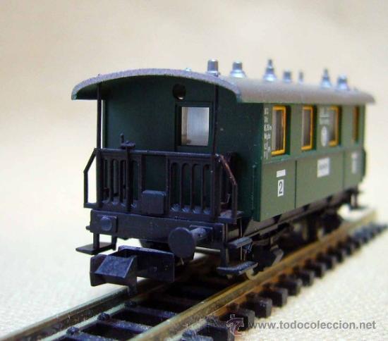 Trenes Escala: VAGON DE PASAJEROS, FLEISCHMAN, PICCOLO, ESCALA N, 2 EJES, ANSBACH - Foto 3 - 36082397