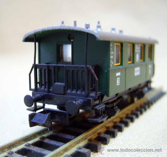 Trenes Escala: VAGON DE PASAJEROS, FLEISCHMAN, PICCOLO, ESCALA N, 2 EJES, ANSBACH - Foto 4 - 36082397