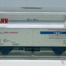 Trenes Escala: VAGÓN MERCANCÍAS FLEISCHMANN N FRIGORÍFICO TRANSTHERMOS KUHLVERKEHR REF 8320 CON CAJA. Lote 46447537
