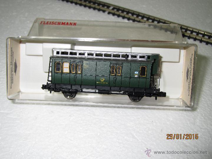 Trenes Escala: Antiguo Furgón Postal de Deutsche Bundespost en Escala *N* de FLEISCHMANN - Foto 3 - 47545080