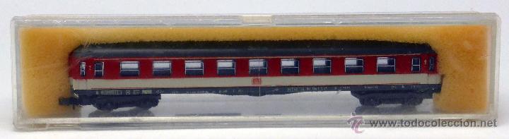 VAGÓN TREN LIMA N PASAJEROS ROJO Y GRIS ITALY CAJA AÑOS 80 (Juguetes - Trenes a Escala N - Fleischmann N)
