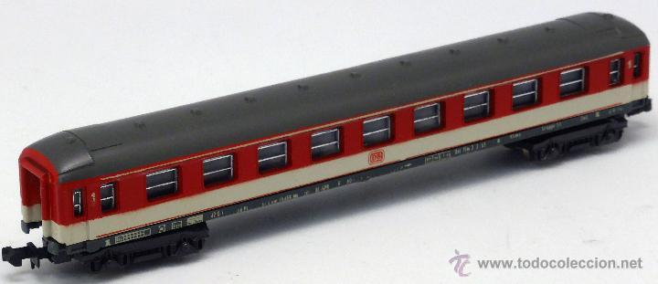 Trenes Escala: Vagón tren Lima N pasajeros rojo y gris Italy caja años 80 - Foto 2 - 52251662