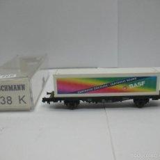 Trenes Escala: FLEISCHMANN REF: 8238 K - VAGÓN DE MERCANCÍAS CON CONTAINER BASF - ESCALA N. Lote 55756493