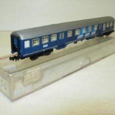 Trenes Escala: VAGÓN PASAJEROS FLEISCHMANN PICCOLO REF 8156 DE LA NS ESCALA N CUATRO EJES. Lote 58941290