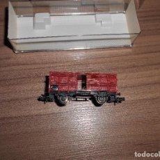 Trenes Escala: FLEISCHMANN VAGON MERCANCIAS 8354 ESCALA N COMO NUEVO TIPO IBARTREN. Lote 64888595