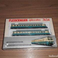 Trenes Escala: FLEISCHMANN LOCOMOTORA Y VAGONES DB CONJUNTO COMPLETO 7430 ESCALA N COMO NUEVO. Lote 64890371