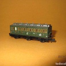 Trenes Escala: COCHE VIAJEROS DE COMPARTIMENTOS 3ª CLASE Y 3 EJES ESCALA *N* DE FLEISCHMANN. Lote 68745865