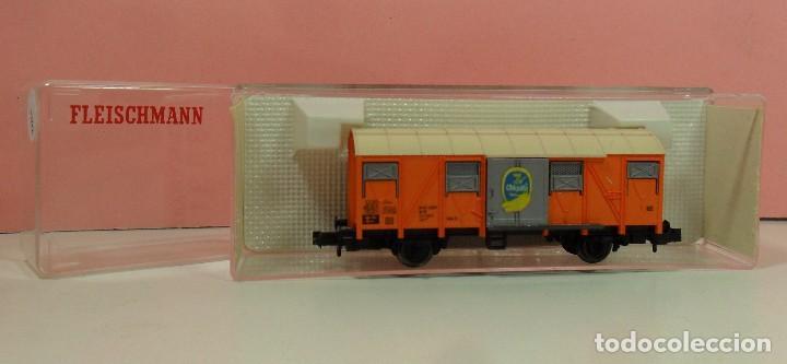 Trenes Escala: FLEISCHMANN N - 8331 - Vagón para transporte de plátanos - Foto 4 - 71129985