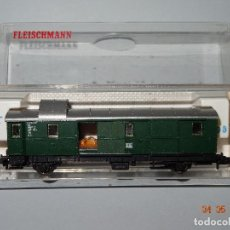 Trenes Escala: DESCATALOGADO FURGÓN DE LA DB REF. 8060 EN ESCALA *N* DE FLEISCHMANN. Lote 86215620