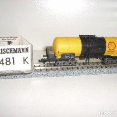 Trenes Escala: FLEISCHMANN N CISTERNA SHELL 8481 K (CON COMPRA DE 5 LOTES O MAS ENVÍO GRATIS). Lote 86945920
