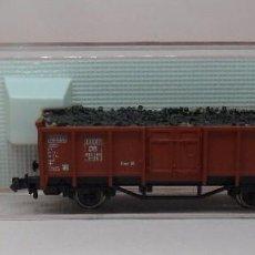 Trenes Escala: FLEISCHMANN N - REF. 8205 - VAGÓN DE BORDE ALTO CON CARGA - CAJA ORIGINAL. Lote 89623820