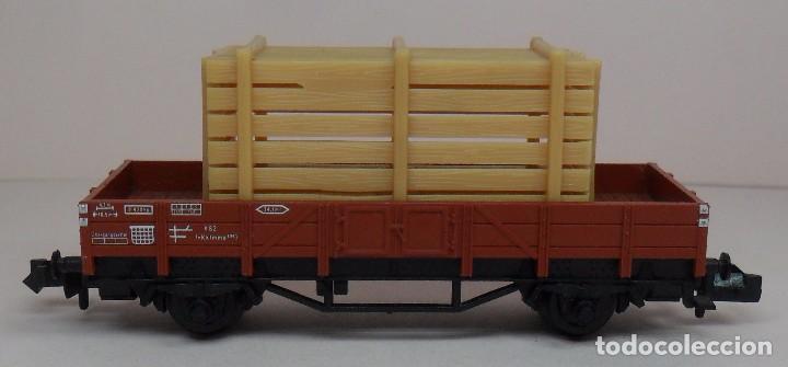 Trenes Escala: FLEISCHMANN N - Ref. 8200 - Vagón de borde bajo con carga - Caja original - Foto 2 - 89624004