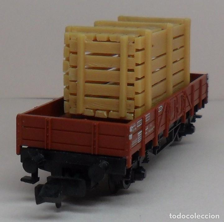 Trenes Escala: FLEISCHMANN N - Ref. 8200 - Vagón de borde bajo con carga - Caja original - Foto 3 - 89624004