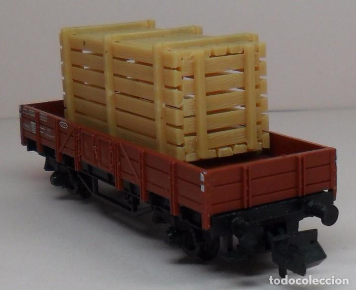 Trenes Escala: FLEISCHMANN N - Ref. 8200 - Vagón de borde bajo con carga - Caja original - Foto 4 - 89624004