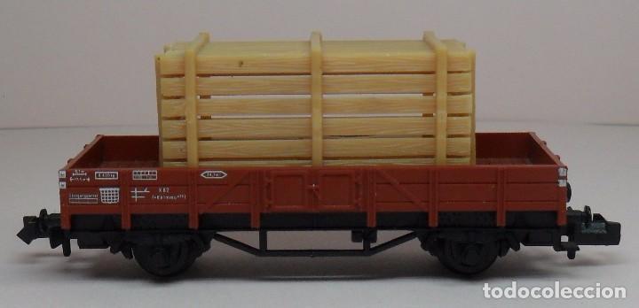 Trenes Escala: FLEISCHMANN N - Ref. 8200 - Vagón de borde bajo con carga - Caja original - Foto 5 - 89624004