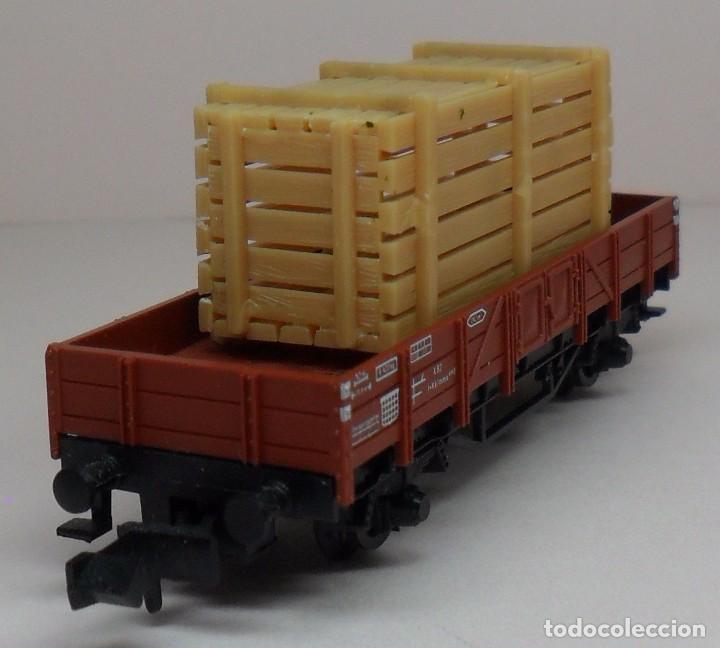 Trenes Escala: FLEISCHMANN N - Ref. 8200 - Vagón de borde bajo con carga - Caja original - Foto 6 - 89624004
